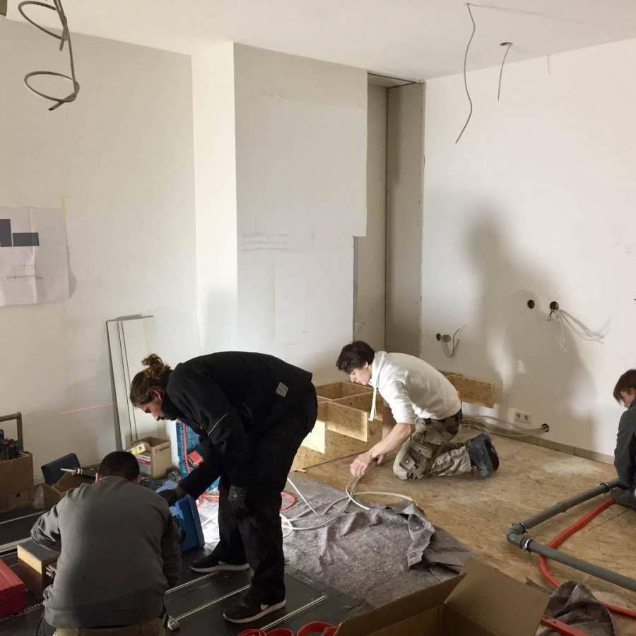 Ladeneinrichtung München: Bauarbeiten