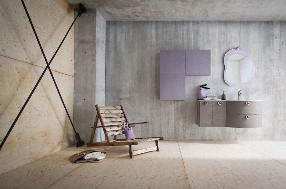 Badezimmer mit Betonelementen